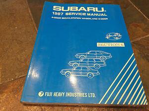 1987 subaru sedan station wagon service shop manual electricalimage is loading 1987 subaru sedan station wagon service shop manual