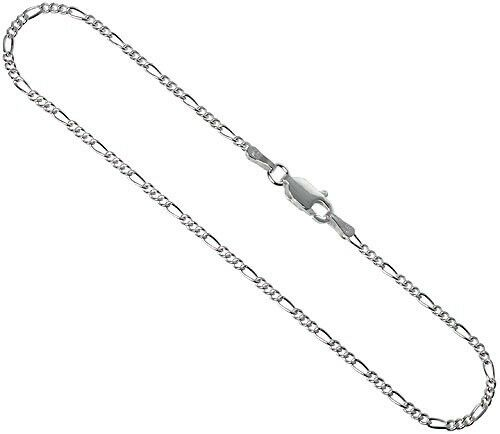 """16/"""" Sterling Silver Necklace Shiny Italian Figaro Chain Pure 925 Italy Wholesale"""