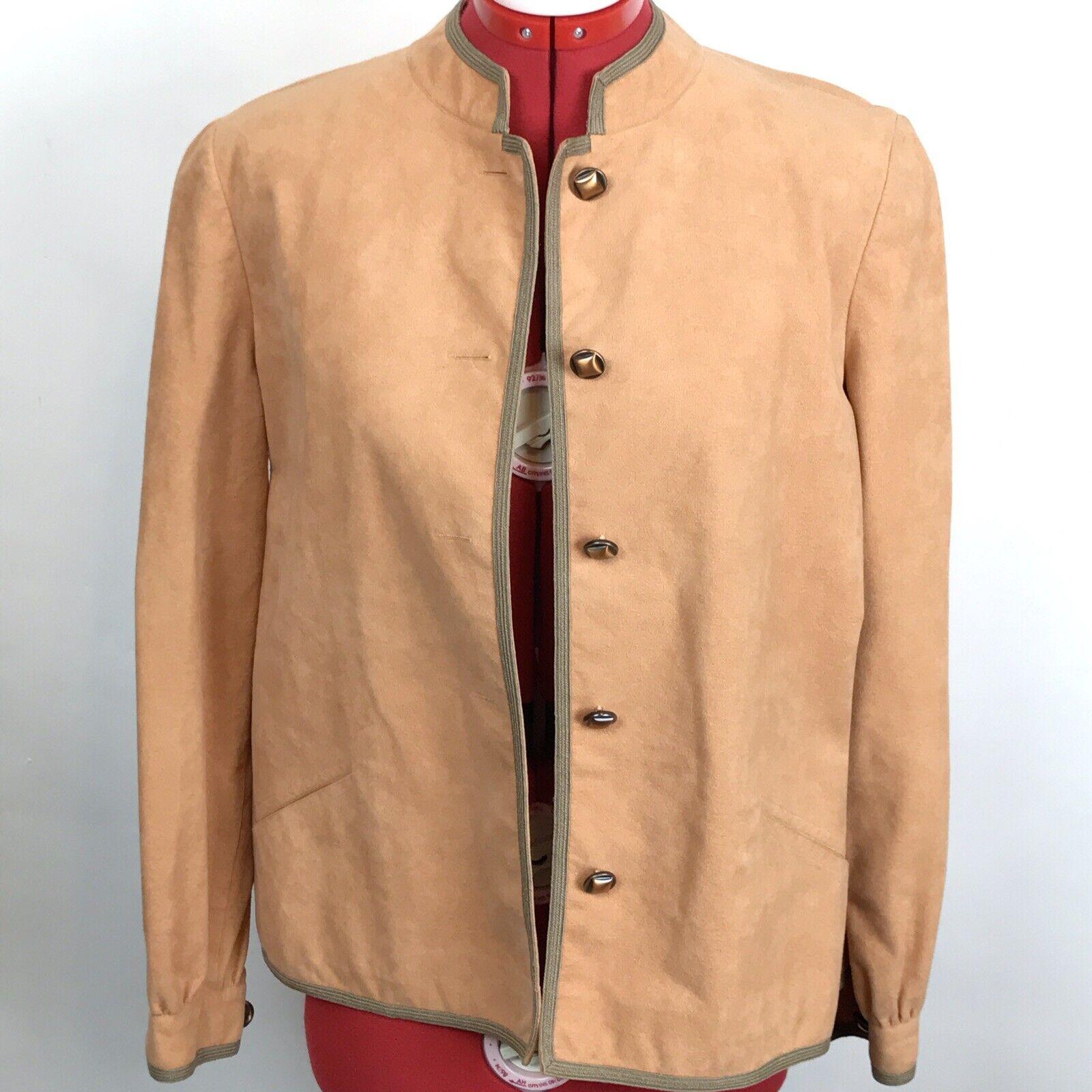 Vintage Retro 70s Mollie Parnis Ultra Suede Jacke… - image 1