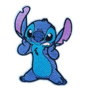 Stitch-from-Lilo-amp-Stitch-Iron-On-Patch-Sew-on-transfer-Embroidered-badge-New