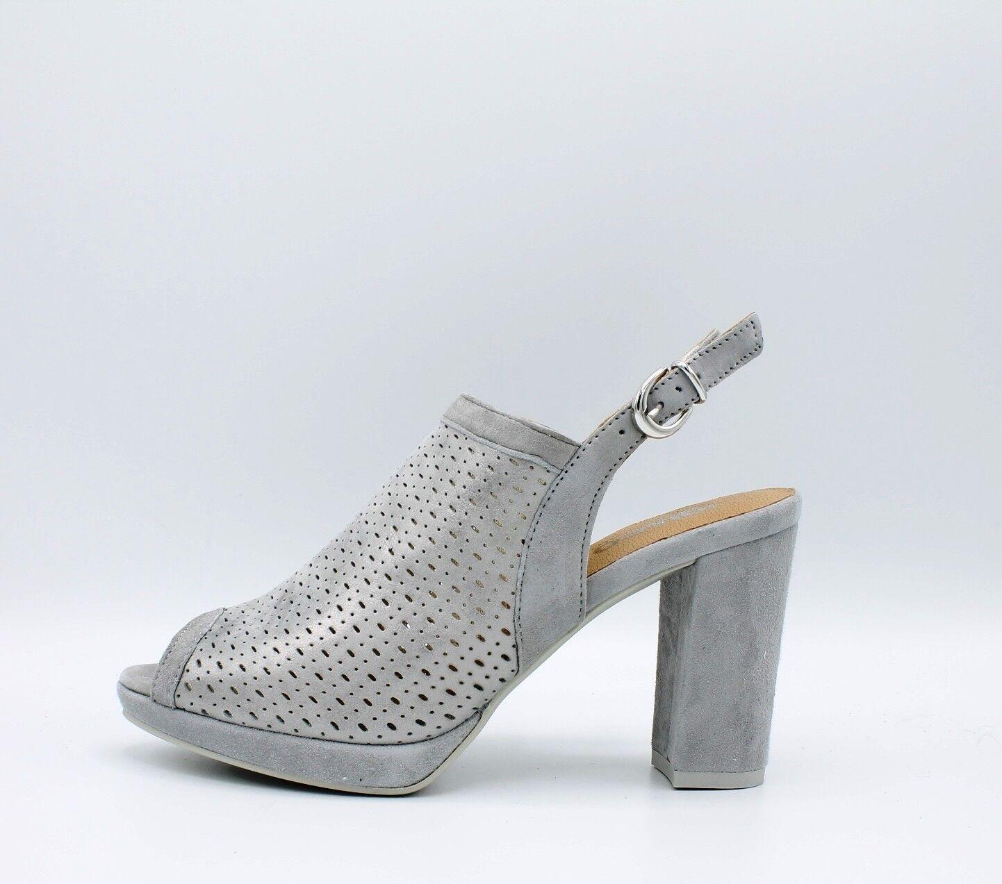 IGI & CO. DVE 1168311 sandalias de mujer tacón plataforma ante perforado acero