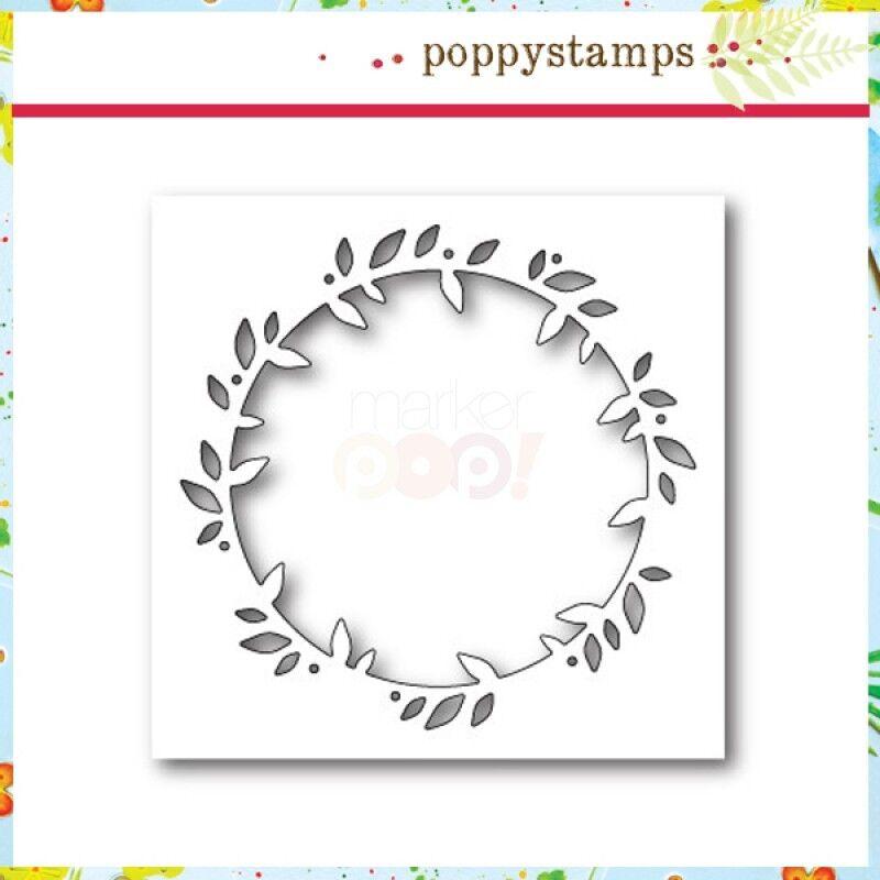 """Poppystamps 1174  /""""Serendipity Bird Frame/"""" 100/% Steel Craft Die NEW"""