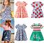 Freizeit Kleid Kleinkind Kinder Mädchen Kurzarm Cartoon Kleider Sommer Dress
