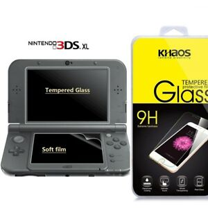 KS-New-Nintendo-3DS-XL-Tempered-Glass-LCD-Screen-Protector-amp-Clear-Crystal-PET
