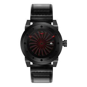 ZINVO-Blade-Corsa-Turbine-Automatic-Steel-Black-Red-Date-Leather-Men-s-Watch
