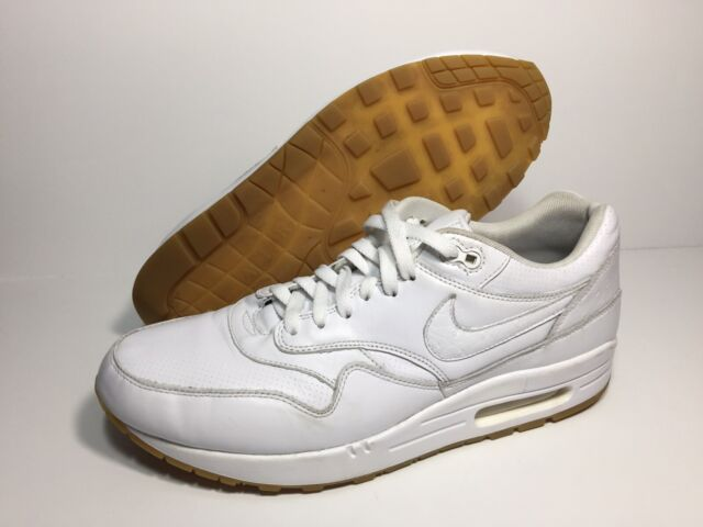 Nike Air Max 1 Leather PA Ostrich White Gum 705007 111 Men's Sneakers Sz 12