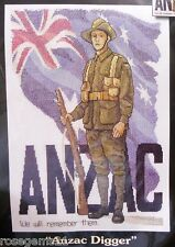 ANZAC DIGGER - Counted Cross Stitch KIT (Australian) Country Threads