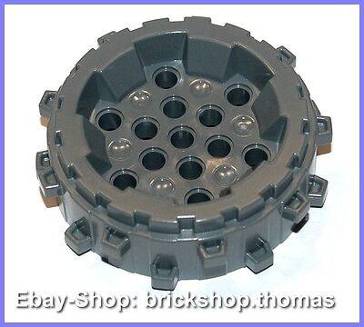 LEGO 16 x Reifen Felge neuhell grau Light Bluish Gray Wheel Tire 17.5x6 42610c04