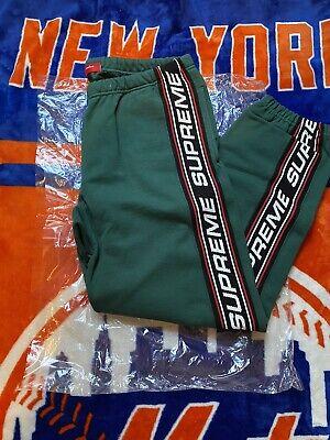 SUPREME TEXT RIB SWEATPANT DARK GREEN S M L XL FW19 PANTS RED BLACK BOX LOGO CDG