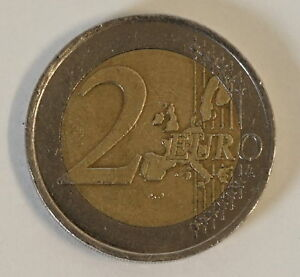 2 Euro Münze Fehlprägung Stufe 2 2001 Liberte Halbe Sterne Error