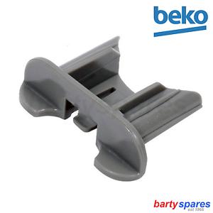 2 BEKO DWD4310W Dishwasher Basket Runner Rail End Stop Retaining Clip 1731540100