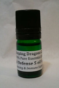 DEFENSE-5-Immune-Boosting-100-Pure-Essential-Oil-Blend-5mLs-compare-to-Thieves