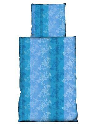 Bettwäsche Brillant 2 Teilig Bettwäsche 155x220cm Blumen Türkis Hell Dunkel Blau Abstrakt Microfaser Von Der Konsumierenden öFfentlichkeit Hoch Gelobt Und GeschäTzt Zu Werden