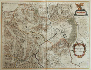 Cartina Dell Italia Veneto.Belluno Feltre 1645 Blaeu Carta Geografica Originale Antica Veneto Italia Ebay