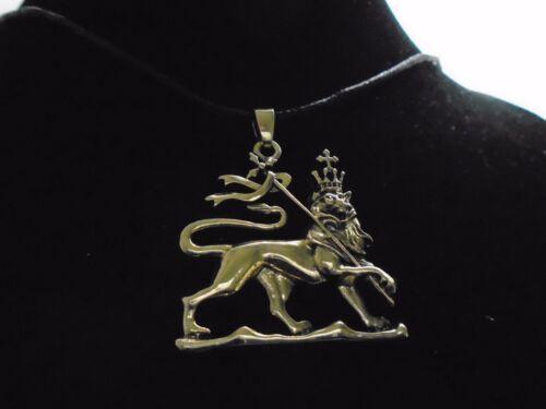 """Único bronce Rasta León De Judá 36 /""""Esculpida Bronce Collar Colgante de gran tamaño"""