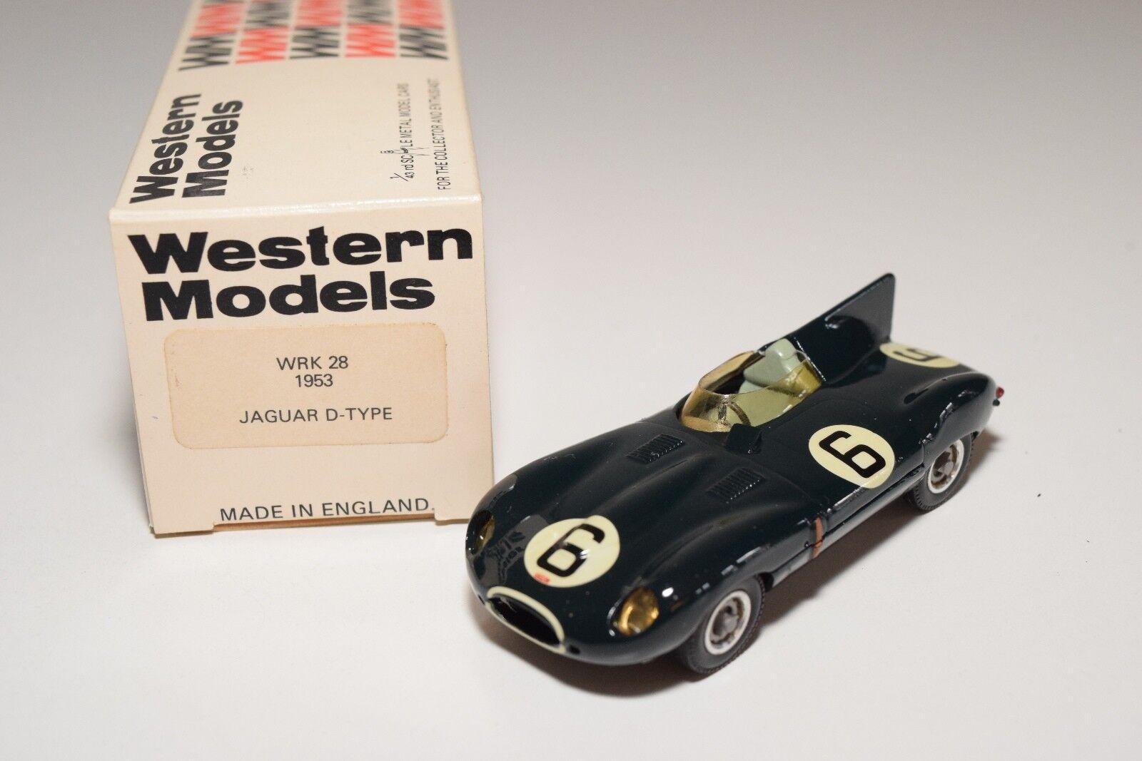 Ich westlichen modellen wm wrk 28 jaguar d-type le mans 1953 dunkelgrüne mint umzingelt