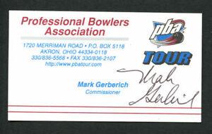 Mark-Gerberich-signed-autograph-PBA-Tour-Commissioner-Business-Card-BC403