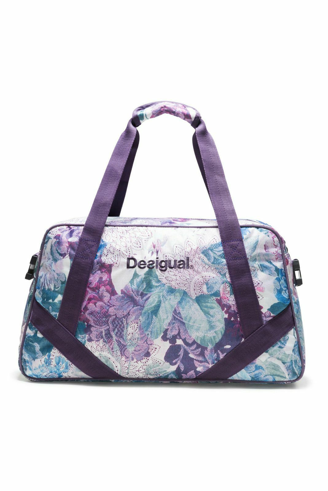 Desigual Art and Thread Carry Shoulder Bag Sporttasche Tasche Magenta Haze