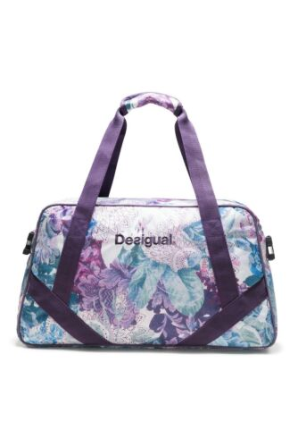 Desigual Art and Thread Carry Shoulder Bag Sporttasche Tasche Magenta Haze