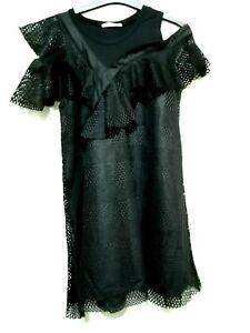Korean-brand-Black-lace-guipure-dress