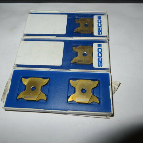 New 2 Pcs SECO X4GK2503010-0135LN-FG,CP500  indexable grooving inserts Sweden