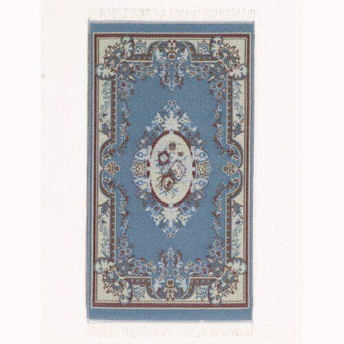 azul muñeca de manta Victoria casa de muñecas 1:12 tipo 5606 Azul alfombra Victoria