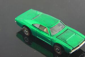 Custom-Charger-GREEN-very-clean-Unrestored-Hot-Wheels-Redline