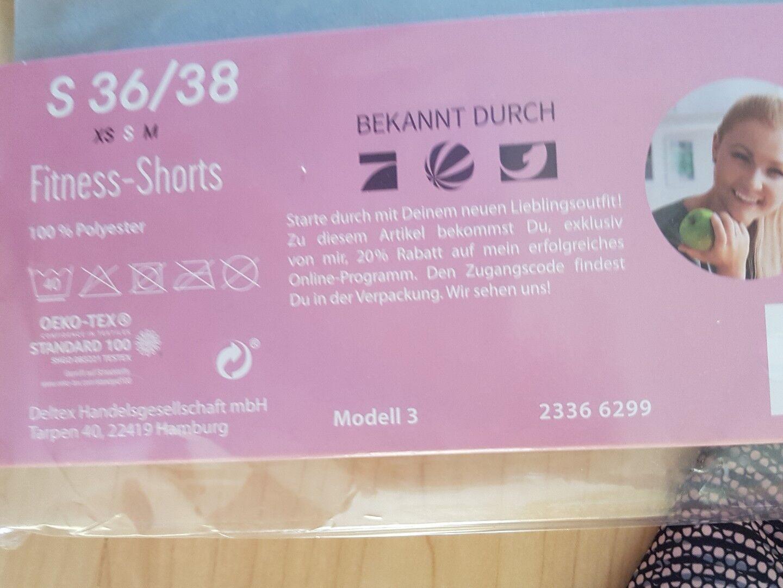 Tolle Fitness Shorts Sport Gr. S 36-38 Sophia Sophia Sophia Thiel Farbe grau neu mit Etikett d62a60