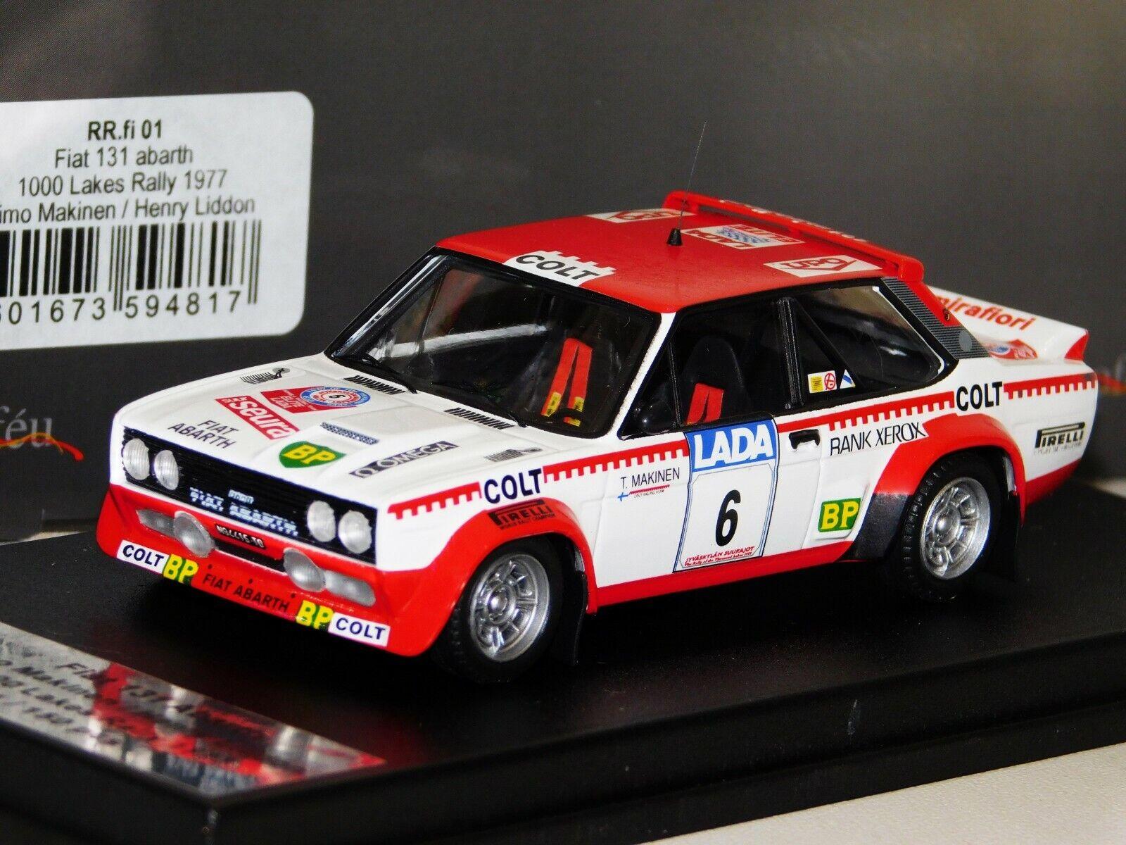 FIAT 131 ABARTH  6 MAKINEN 1000 Lakes Rally 1977 TROFEU Lim. RR. Fi 01 1 43