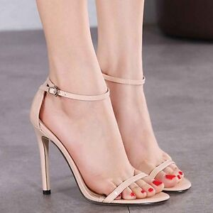 New-Summer-Womens-High-Heels-Ankle-Strap-Buckle-Sandals-Stiletto-Partywear-Shoes