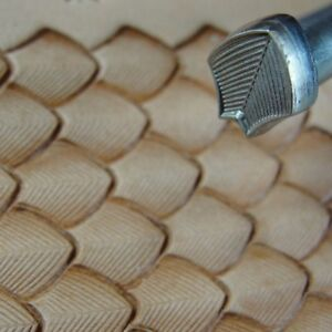 Image Is Loading James Linnell Lined Dragon Scale Geometric Stamp Leather
