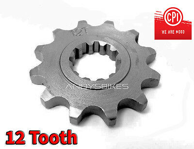 12 Tooth 12T Heavy Duty Front Gearbox Drive Sprocket CPI SM50 SM SX50 SX 50 50cc