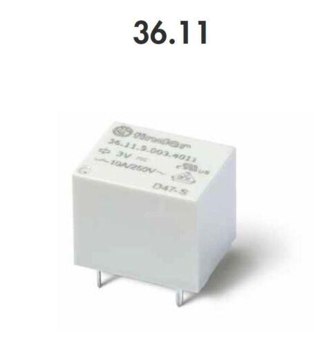250V 3VDC FINDER 36.11.9.003.4011 MINI RELE/' PER CIRCUITO STAMPATO 10A