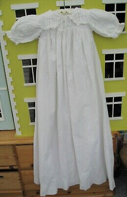 Abile Victorian Baby Abito Da Battesimo O Abito Da Notte Cotone Bianco Bambola – E-mostra Il Titolo Originale