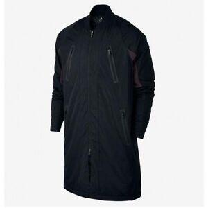 d6ceddf9a0d1 Details about NWT 200 Men s Large Nike Air Jordan Parka Coat Black w Gym  Red Details