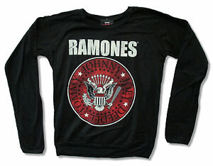 Details about RAMONES RED SEAL GIRLS JUNIORS BLACK LONG SLEEVE FASHION  SHIRT NEW OFFICIAL