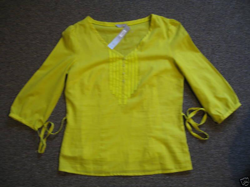 Per Una (M&S) Green cotton Top (NEW)-UK size 10-.00