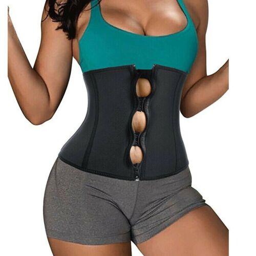 Lady Plus Size Corset Slimming Girdles Waist Trainer With Zipper /& Hooks 4 Boned