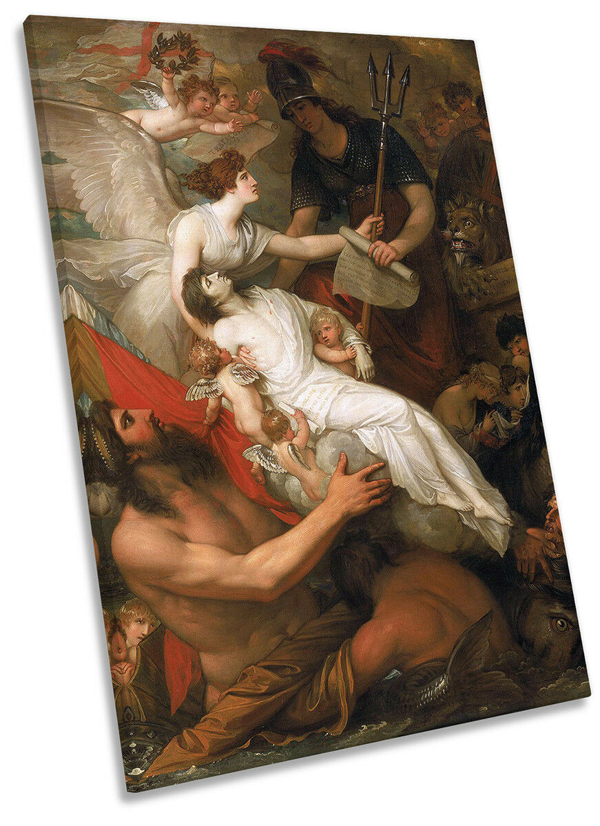 Benjamin West The Immortality Of Nelson Picture CANVAS WALL ART Portrait Print