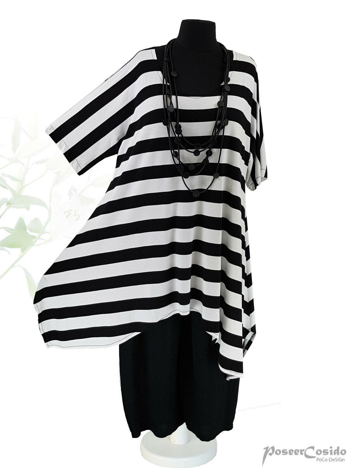 LAGENLOOK Top Long Shirt Tunika /& Spitze 44 46 48 50 52 54 56 58 L XL XXL XXXL
