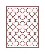 Lindner Münzbox 30 runde Vertiefungen für Münzkapseln Außen-Ø 37 mm