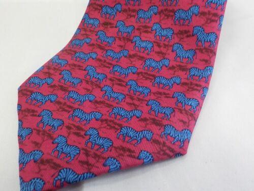 HERMES Logos Men's Scarf Neck Tie 100% Silk Red Fr