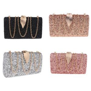 Women-s-Party-Wedding-Clutch-Purse-Diamante-Evening-Prom-Bag-Chain-Wallet