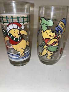 Vintage Winnie The Pooh Glassware Disney- Set Of 2