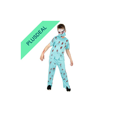 Zombie Chirurg  Kostüm für Kinder Halloween Horror Party Arzt Doktor Gr. 122-170