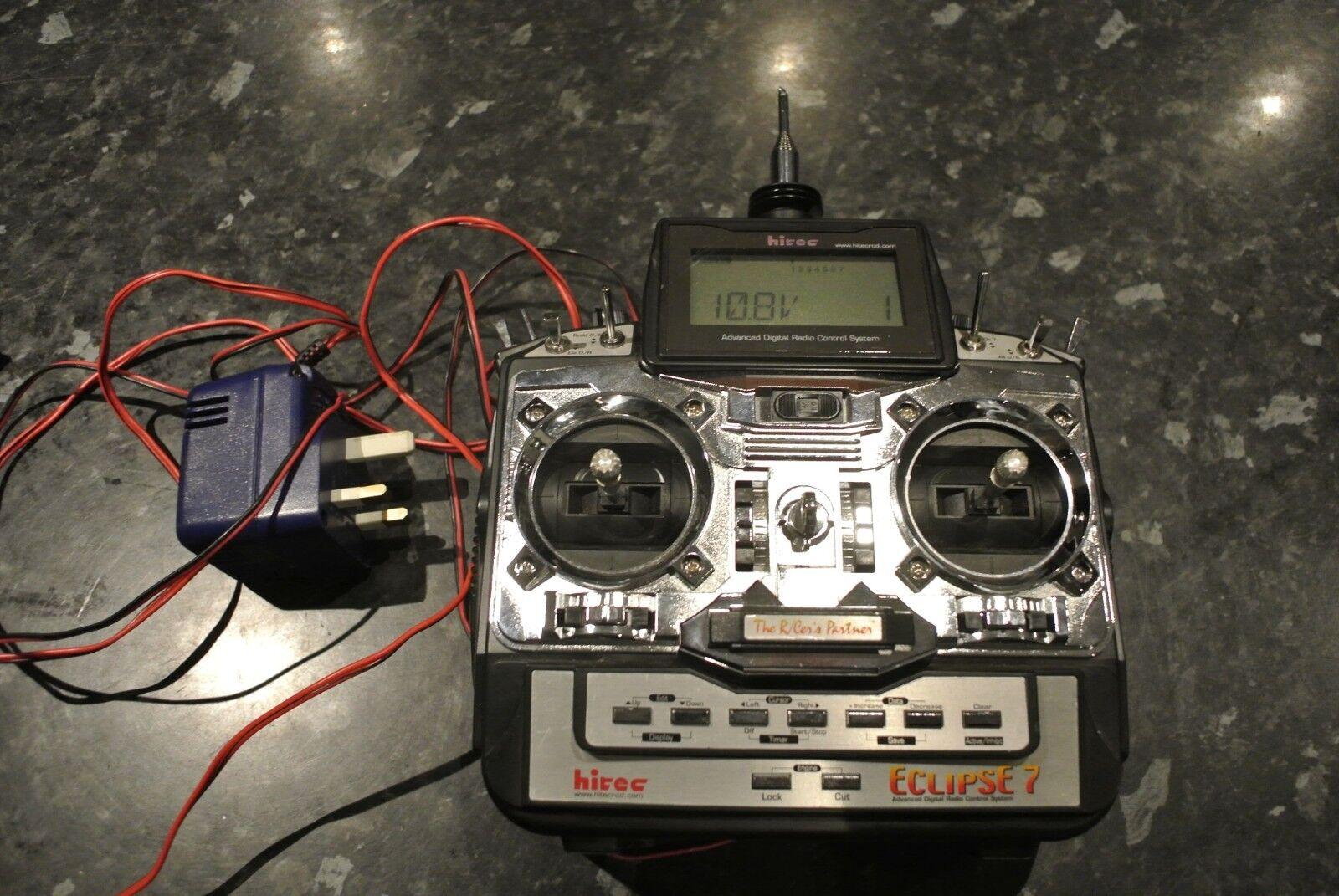 Klassisk FM HITEC Hi-Tec ECLIPSE 7 RC Radio Transmitter 7 Channel Heli, Aero etc.