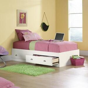 411222 Sauder Storage Bed Twin Kids Bedroom Furniture Wood 2 ...