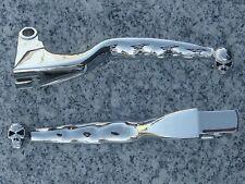 Yamaha V-Star 650 1100 Classic Silverado CHROME SKULL FRONT BRAKE CLUTCH LEVERS