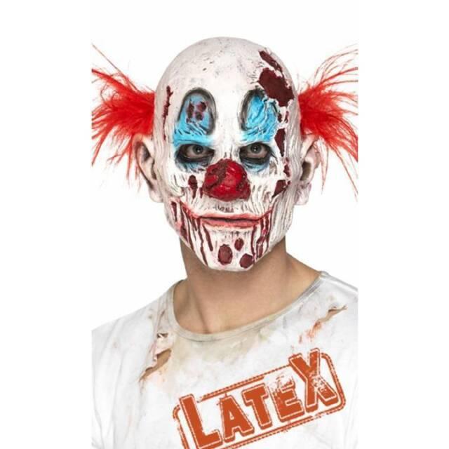 3914acebc Envejecido Zombie Terror Máscara de Payaso Disfraz Halloween Accesorio