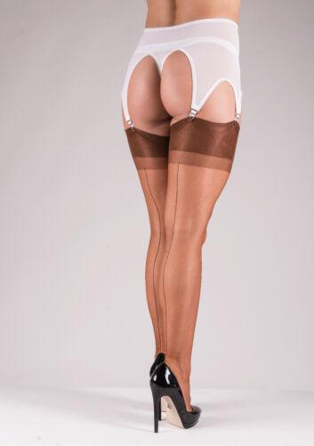 Echte Nahtnylons Strapsstrümpfe englische Nahtstrümpfe Retro RHT Stockings